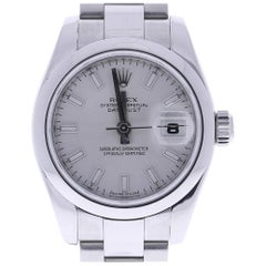 Certified 2007 Rolex Datejust 179160-SSO 26 Millimeters Silver Dial