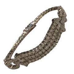 Diamond Set in White Gold Bracelet