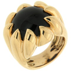 Valentin Magro Dome Pave Ring with Black Onyx