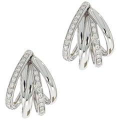 Tibet Diamond White Gold Earrings by Mattioli