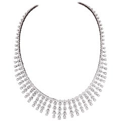 Over 20 Carat Diamond Drop Necklace