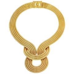 Lunar Eclipse Necklace, 22 Carat Yellow Gold on Brass