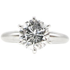 1.01 Carat D Flawless Round Diamond Engagement Ring GIA