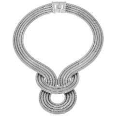 Lunar Eclipse Necklace, Platinum on Brass