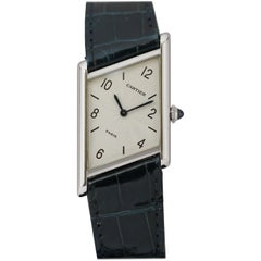 Limited Edition Platinum Cartier Asymmetric Driver's Wristwatch Ref 1996