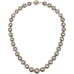 Gray/Silver South Sea Pearl Necklace