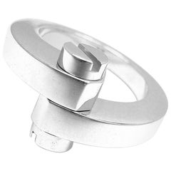 Cartier Menotte White Gold Band Ring