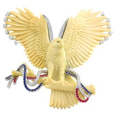 "Frederic Sage 56.63 Carat Mammoth Bone ""Eagle"" Pendant/ Brooche"