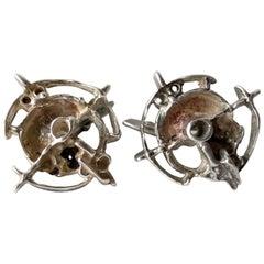 Frank Regine Juhls Sterling Silver Norwegian Modernist Tundra Series Cufflinks