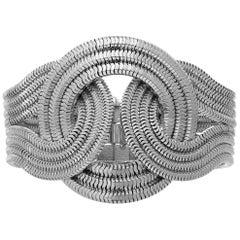 Mini Solar Eclipse Bracelet, Platinum on Brass