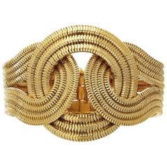 Mini Solar Eclipse Bracelet, 22 Carat Yellow Gold on Brass