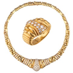 18 Karat Boucheron Necklace and Ring Suite