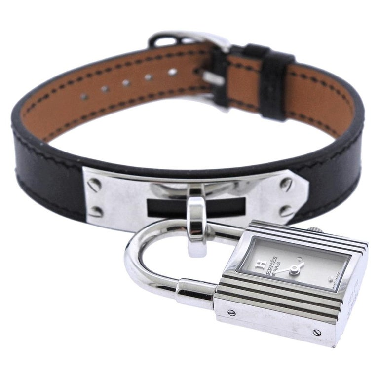Hermes Kelly Stainless Steel Quartz Watch KE1.210 For Sale