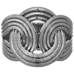 Solar Eclipse Bracelet, Platinum on Brass
