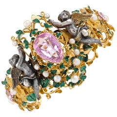 Jeweled Cupid Bracelet by Froment-Meurice