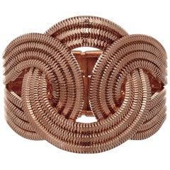 Solar Eclipse Bracelet, 18 Carat Rose Gold on Brass