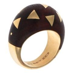 Van Cleef & Arpels Wood Gold Ring