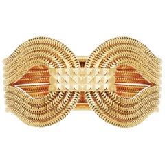 Gagarin Bracelet, 22 Carat Yellow Gold on Brass