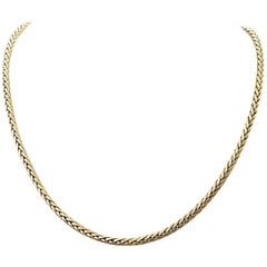 Vintage French Braided Gold Necklace