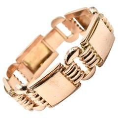 14 Karat Rose Gold Fancy Link Bracelet