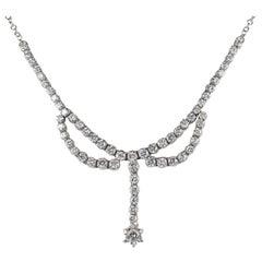 3.30 Carat Diamond F G VVS Glamour of the 1950s Necklace