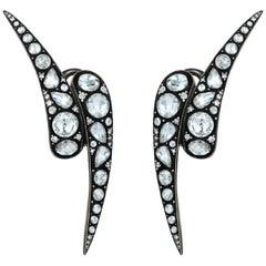 18 Karat Gold Monan Maleficent 3.04 Carat Diamond Earrings