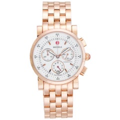 Michele Rose Gold Sport Sail Chronograph Watch, MW01C00B3001