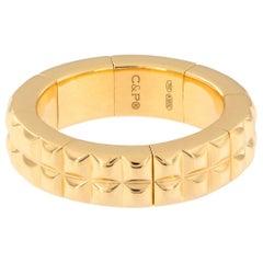 18 Karat Yellow Gold Flexible Band Ring