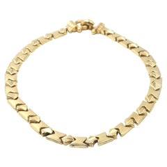 Fancy Link 14 Karat Yellow Gold Necklace
