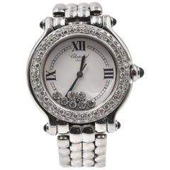 "Chopard ""Happy Sport"" Diamond Stainless Steel Ladies Watch Ref 8236"