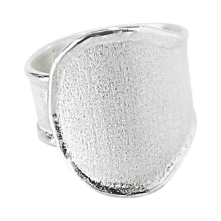 Yianni Creations Fine Silver and Palladium Artisan Handmade Ring For Sale