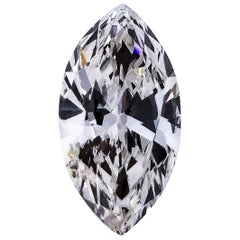 GIA Certified 1.28 Carat Marquise Brilliant Diamond