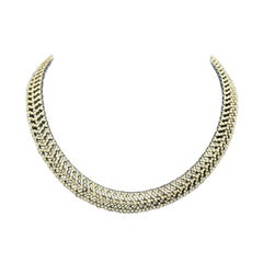 18 Karat White Gold Necklace with 1000 Diamonds