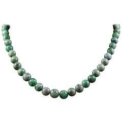 Antique Victorian Beaded Jade Necklace, circa 1900