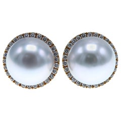 Autore South Sea Pearl and Diamond Earrings
