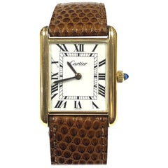 Cartier Yellow Gold Classic Mechanical Tank Watch