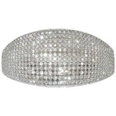 18 Karat Tapered Diamond Bangle Cuff Bracelet
