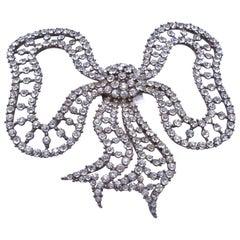 Edwardian Paste Bow Dress Ornament