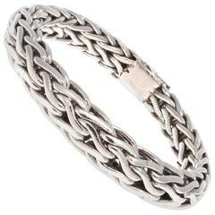 Woven Platinum Bracelet