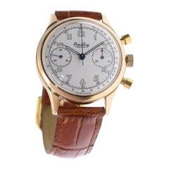 Breitling Premier Men's Rose Gold Watch, circa 1945, Ref 593236-790