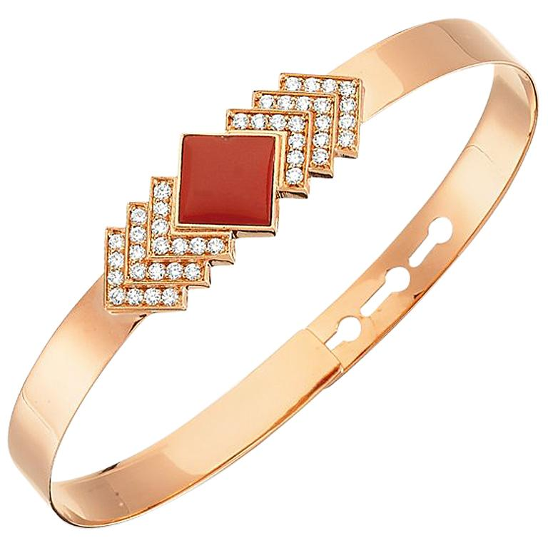 Rose-gold and diamond Geometria bracelet