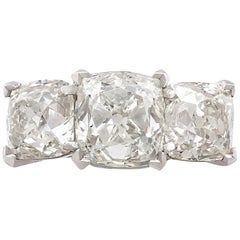 1890s Contemporary 6.55 carat Diamond and Platinum Trilogy Ring