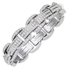 Picchiotti Xpandable 18 Karat White Gold Diamond Bracelet