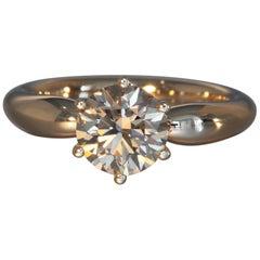 Robert Vogelsang 1.43 Carat Natural Brown Diamond Rose Gold Engagement Ring