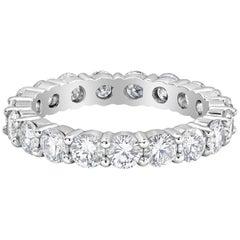 2.80 Carat Round Diamond Shared Prong Eternity Wedding Band