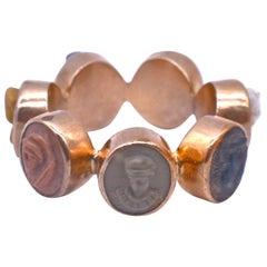 9 Karat Lava Cameo Ring