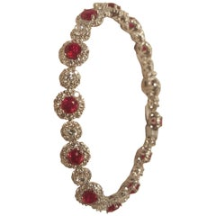 18 Karat Ruby and Diamond Bracelet