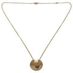 Nanna Ditzel for Georg Jensen 18 Karat Yellow Gold and Pearl Pendant with Chain