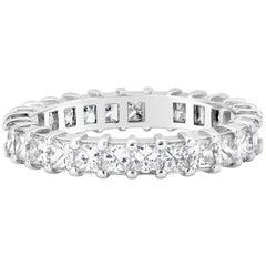 2.30 Carat Princess Cut Diamond Eternity Wedding Band