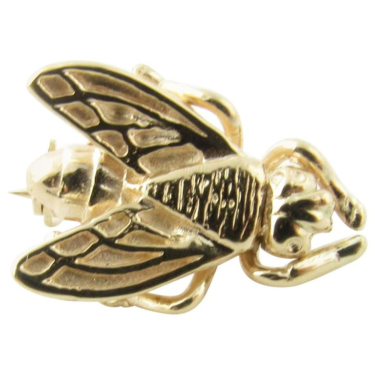 14 Karat Yellow Gold Bee Brooch